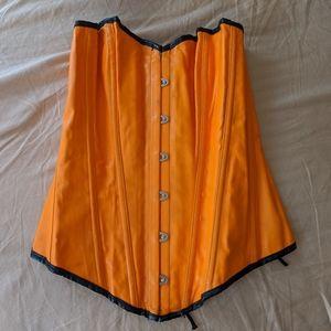 Daisy orange pleather corset M